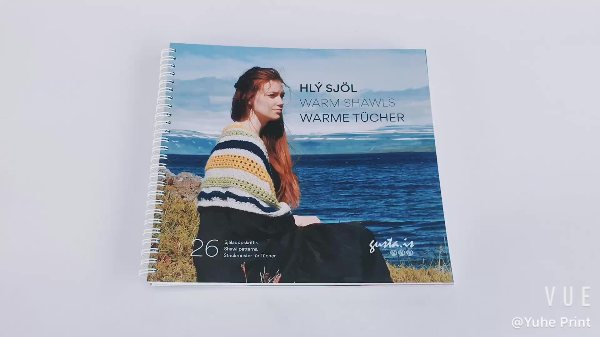 Full color Softcover booklet wire-o Binding book print from Yuhe Print