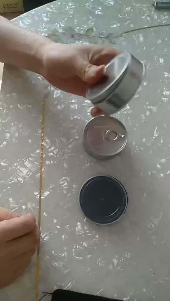 Cinese fornitura piccola rotonda lattine di pressitin salute personalizzato stampa di etichette barattolo di latta