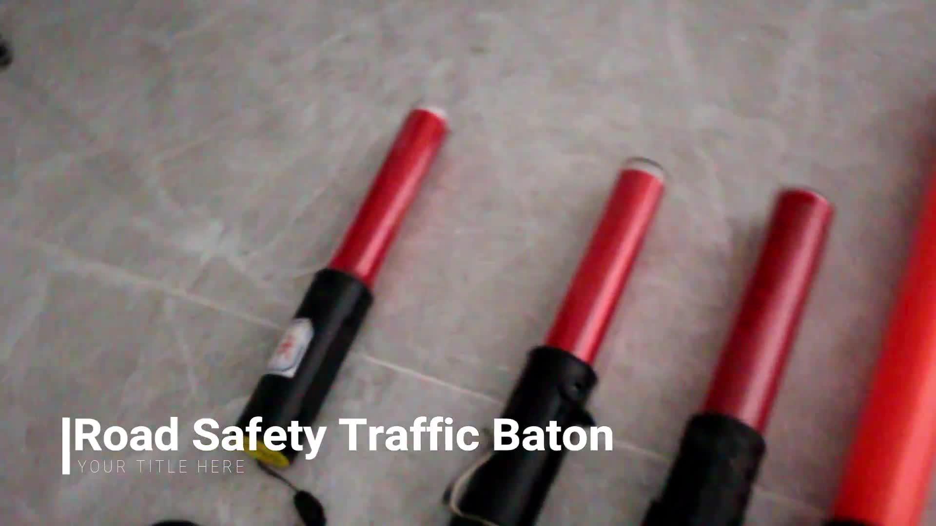 540mm different color flashing light stick led police traffic baton