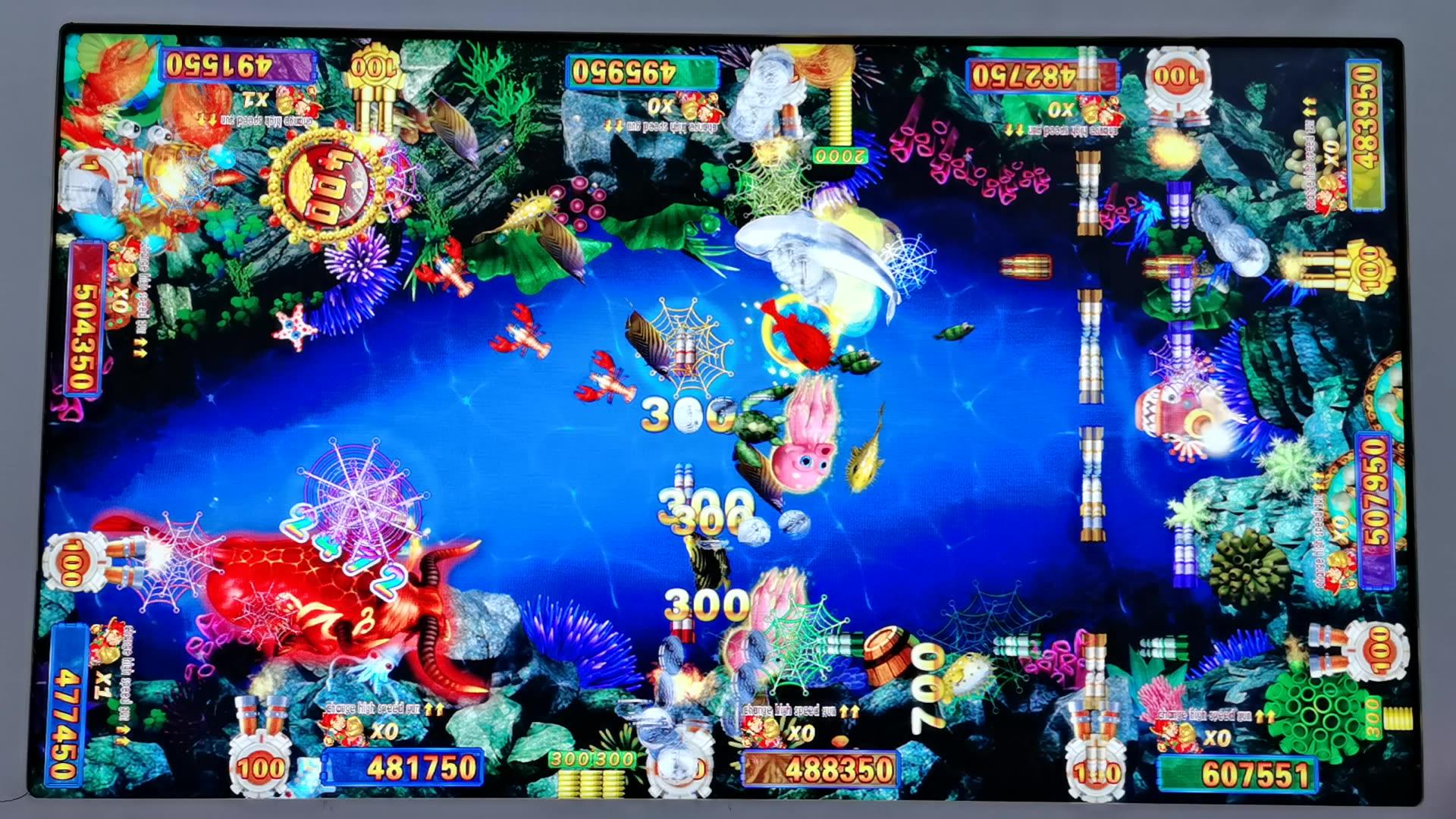 Lucky Dragon Tiger Fish Hunter Machine Fantastic Ocean Fish Hunter Casino Machine Game System