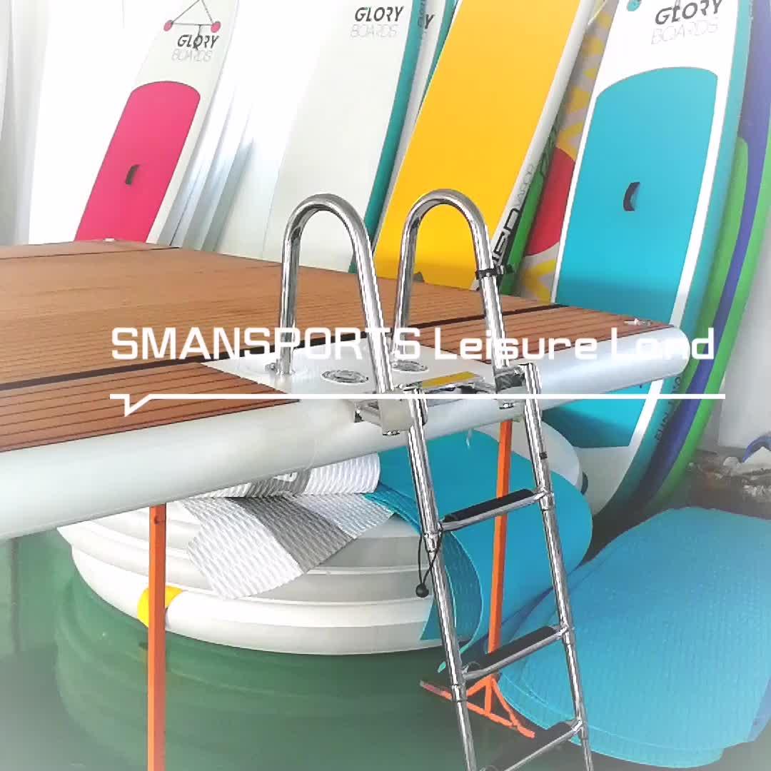 Leisure Land 322 water drijvende lucht ponton jet ski dock boot staart drijft platform voor jachten