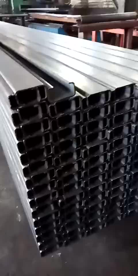 Solar panel mounting steel C channel for support structures