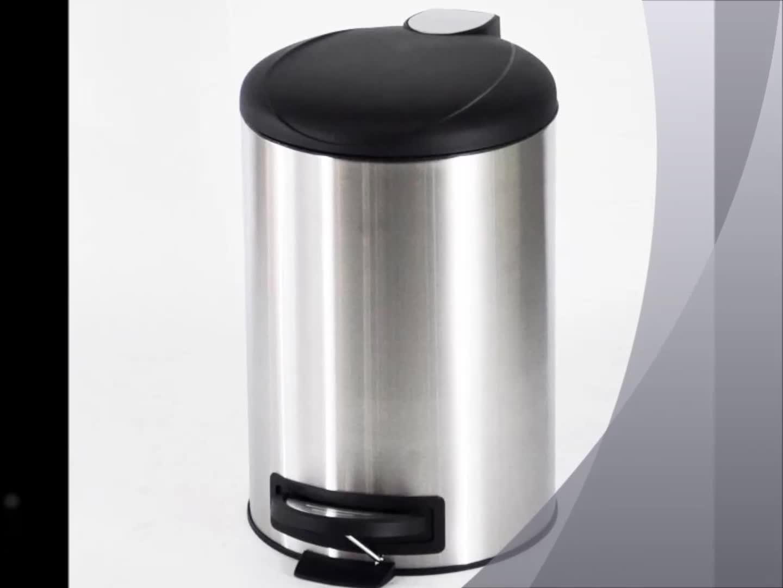 Zylinder Geformt Metall Wc Pedal Mülleimer (12L)