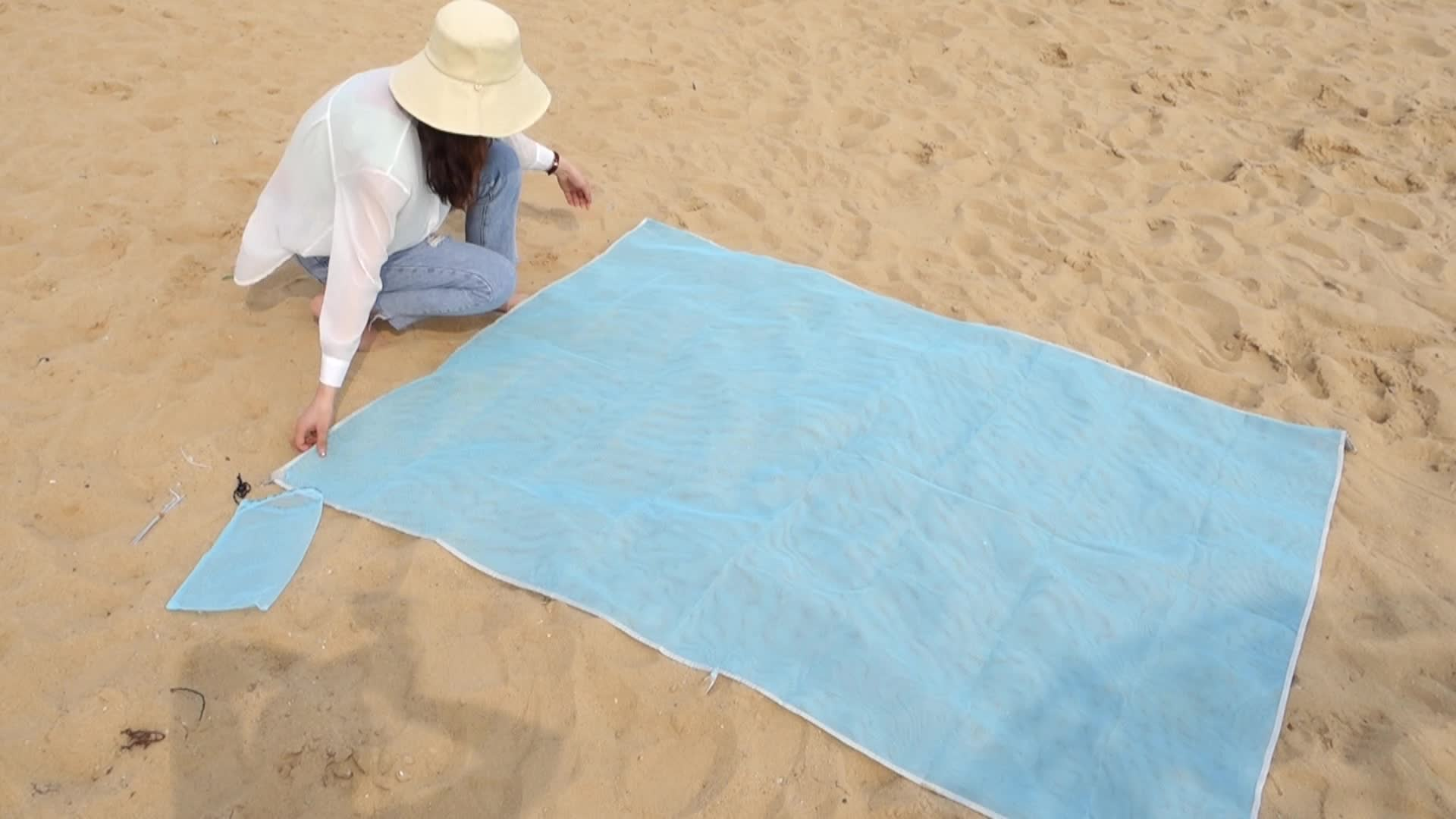 Hoge Kwaliteit 100% Polyester Outdoor Zand Gratis Strand Picknick Mat