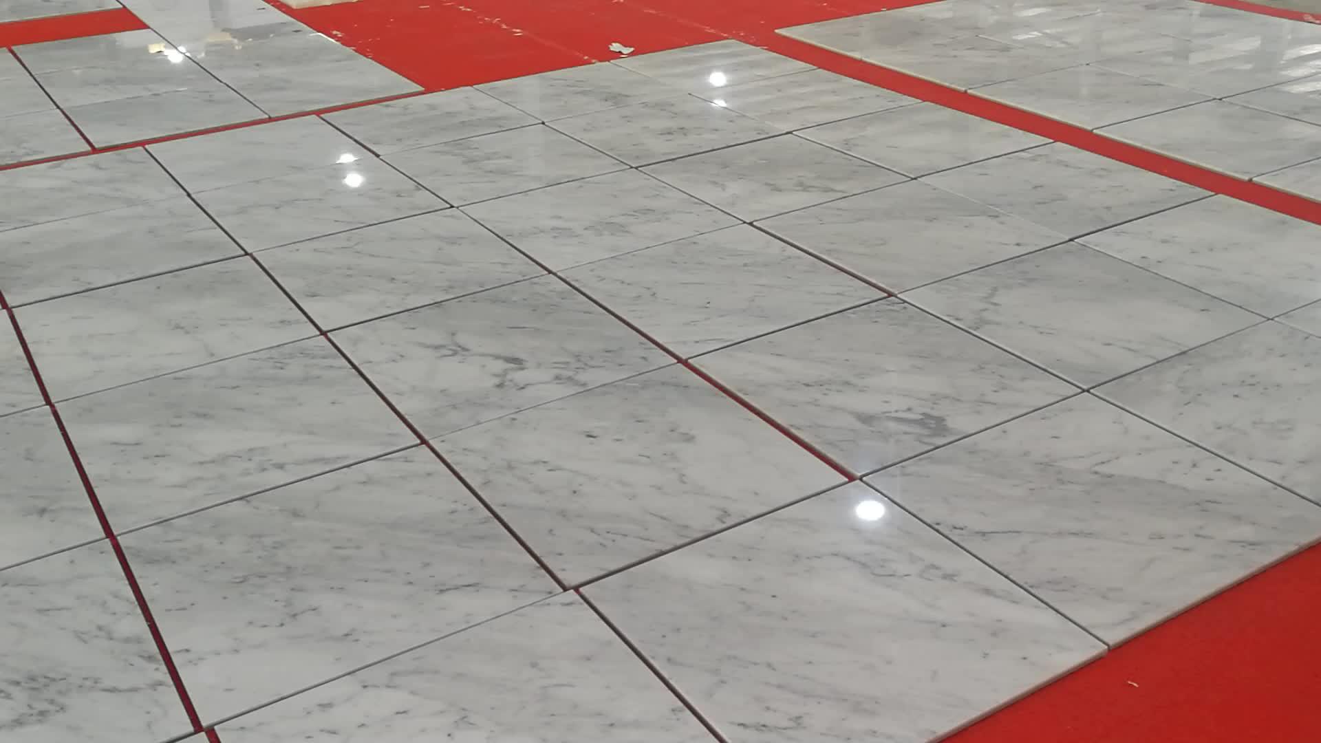 "Bianco carrara marble tiles 24""x24"""