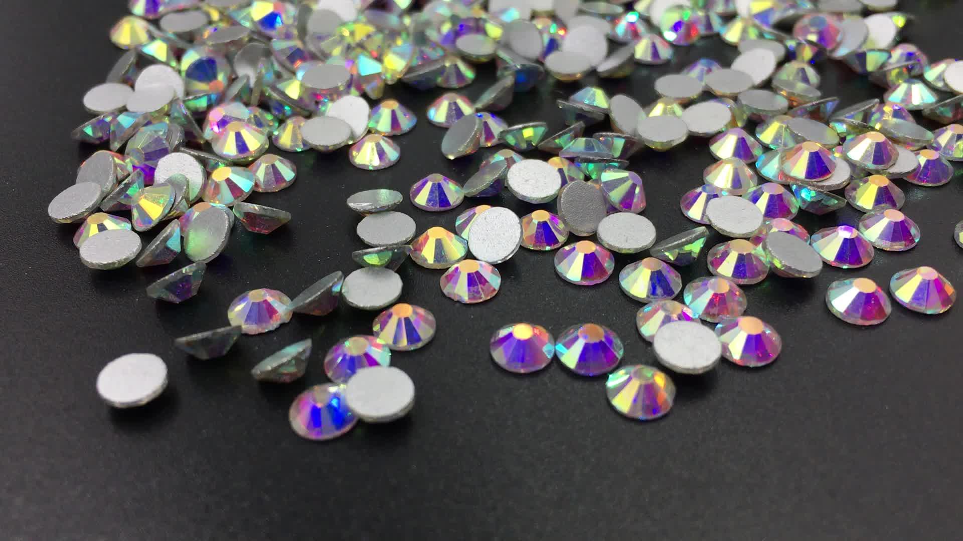 Nicht Hot Fix Flatback Verschönerung Nail art Stein Glas Kristall Strass