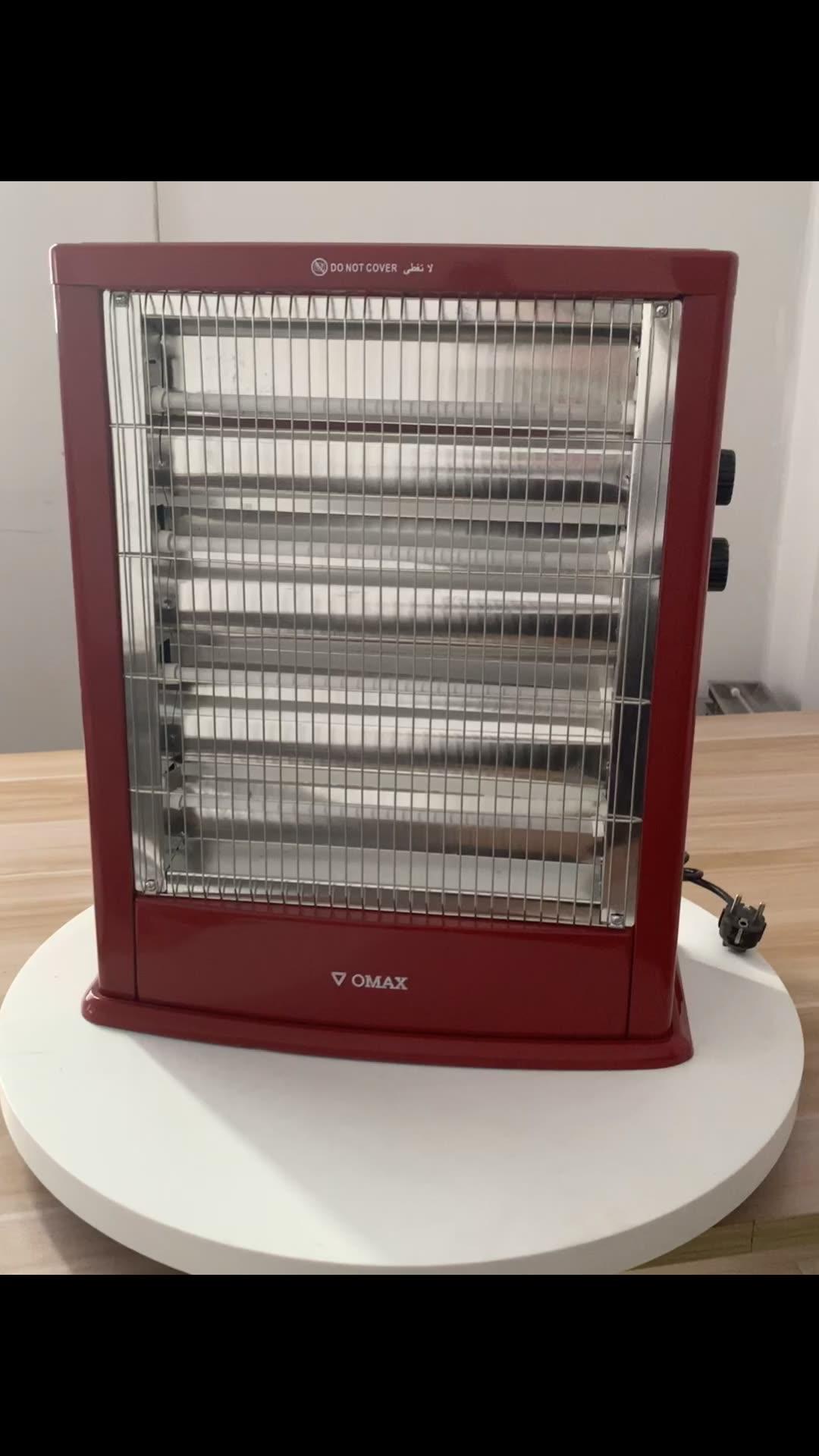 2400w बिजली के साथ 5 क्वार्ट्ज ट्यूब हीटर प्रशंसक और थर्मोस्टेट