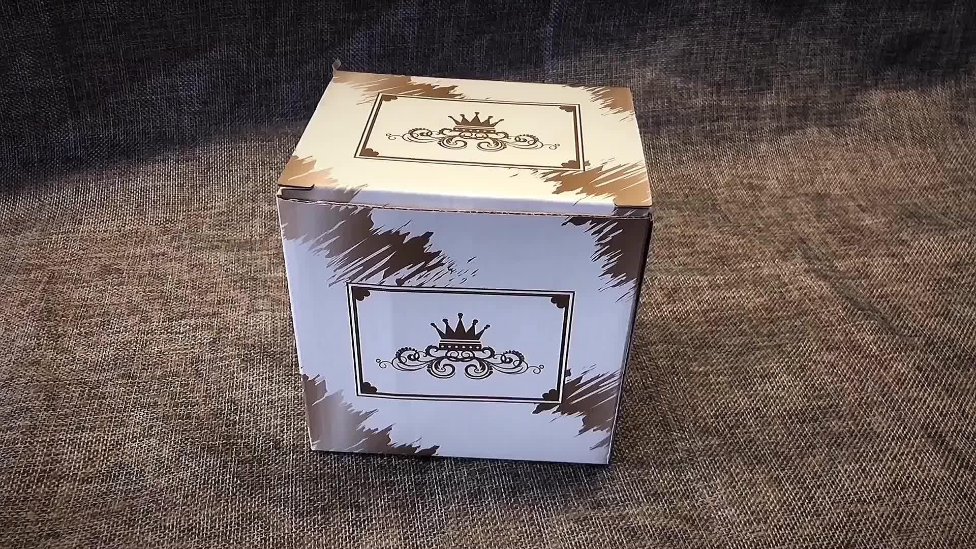 300 ml Nordic Stijl Grey Keramische Mooie Grote Buik Cup Porselein Mok met Elegante Crown Cover