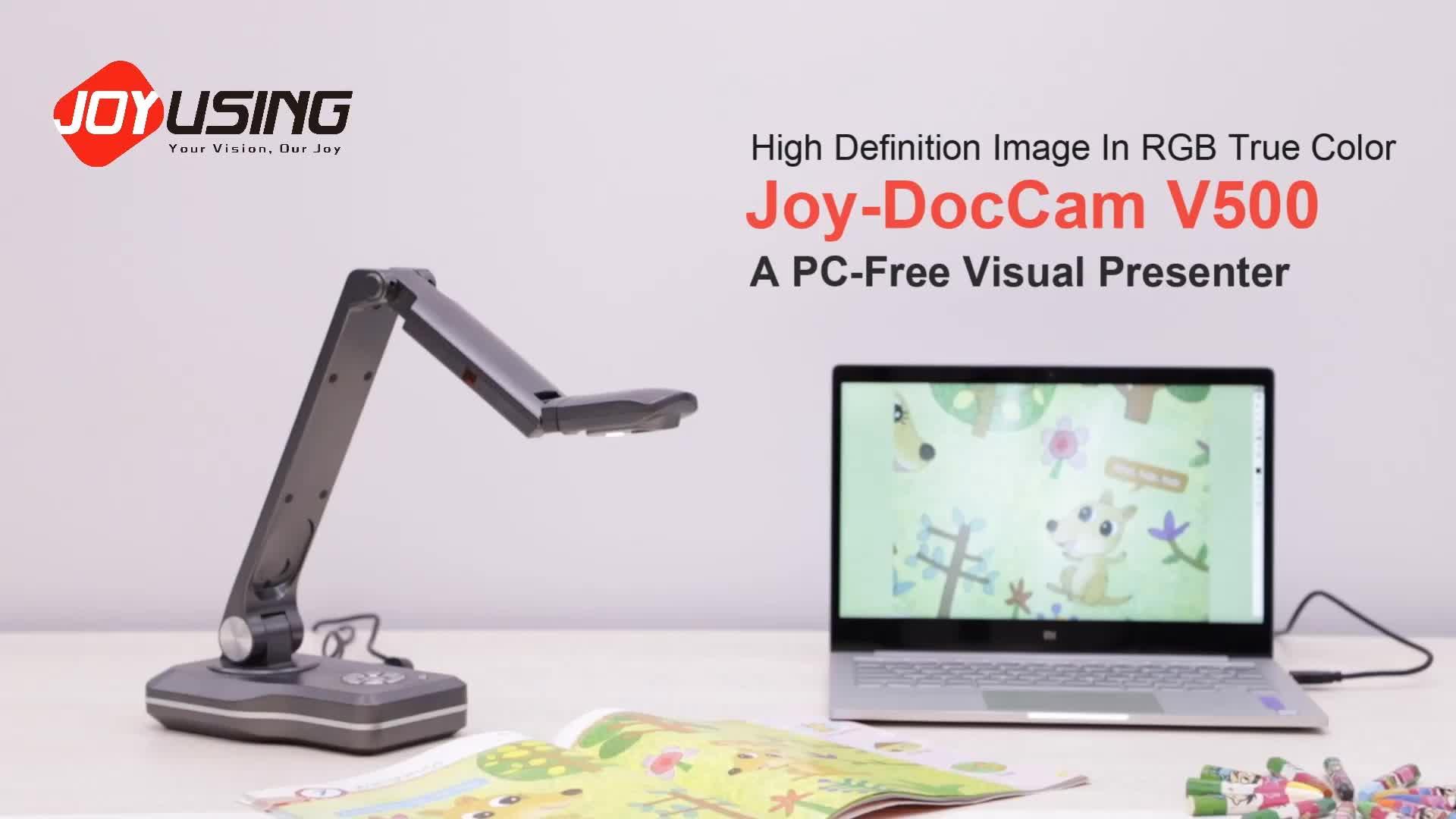 V500 8MP HD Image High Quality Visualizer Multimedia Teaching Instrument Document Camera