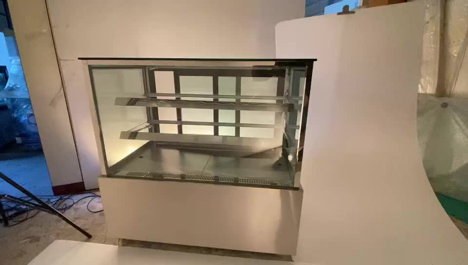 Factory price r134a cake display showcase for sale standing cabinet showcase chiller refrigerator r134a r404a r290a