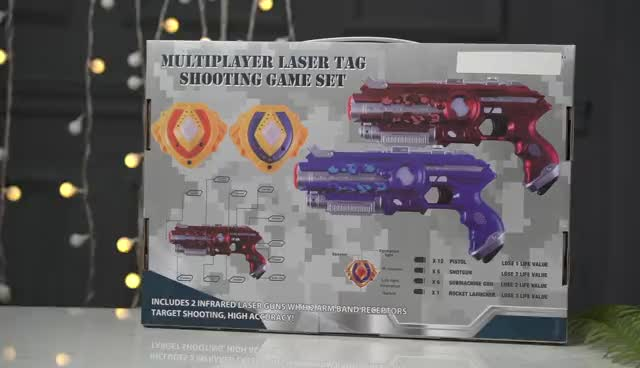 Electronic plastic infrared sniper laser toy gun with sounds and light