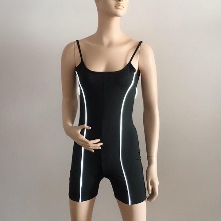 Reflective Singlet mono deportivo active wear Neon One Piece Jumpsuit for Women