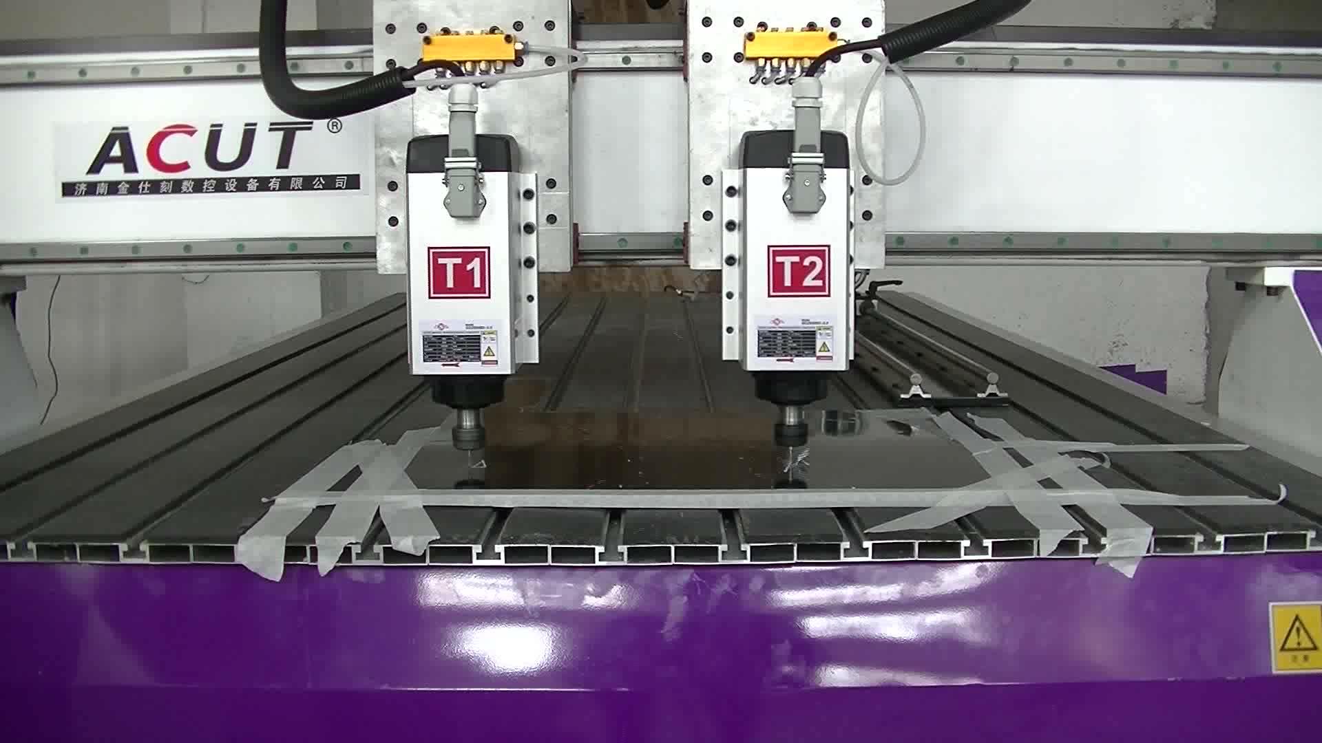 เครื่อง CNC 2 โผล่ 1325 คู่หัวไม้ CNC Router