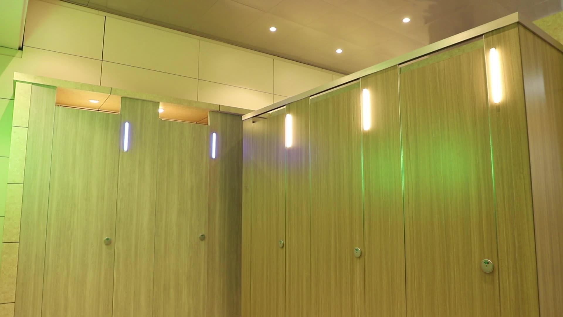 public phenolic compact bathroom partition