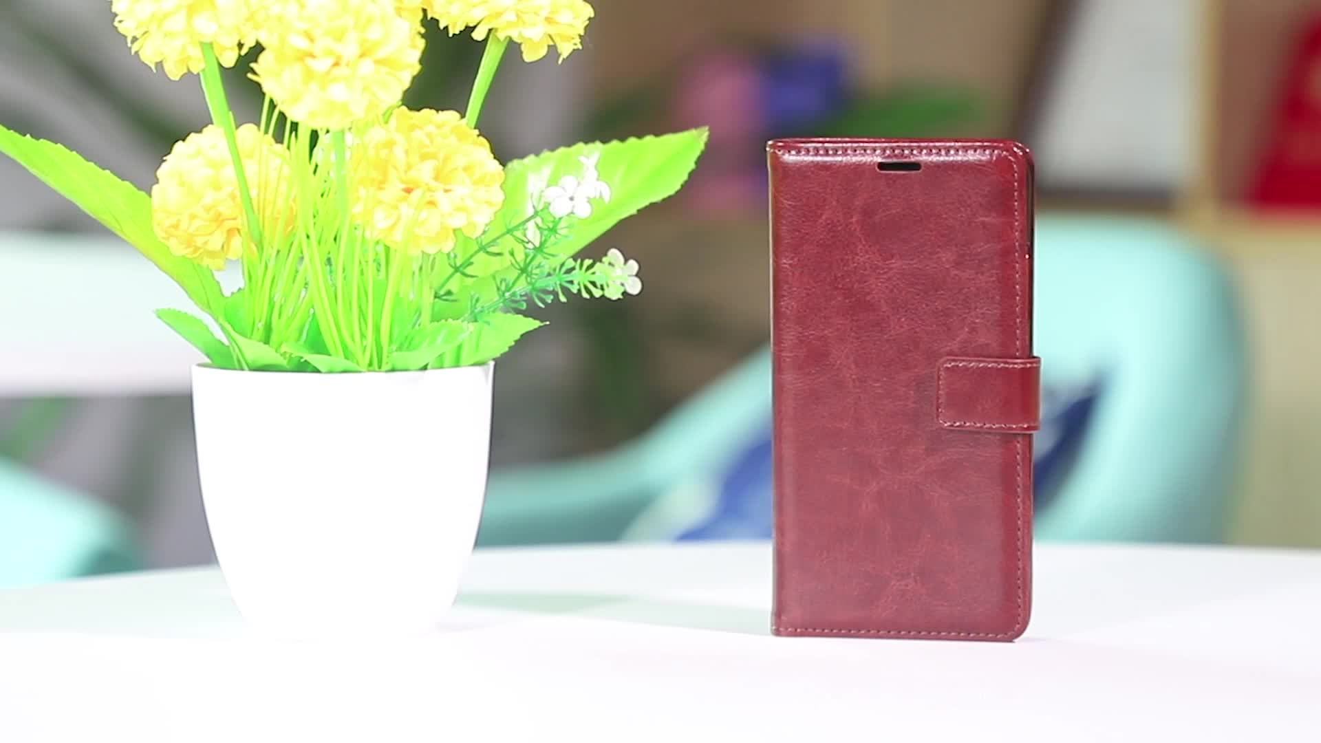 Cellphone Back Cover for Realme C2 2020 Leather Flip Case Magnetic