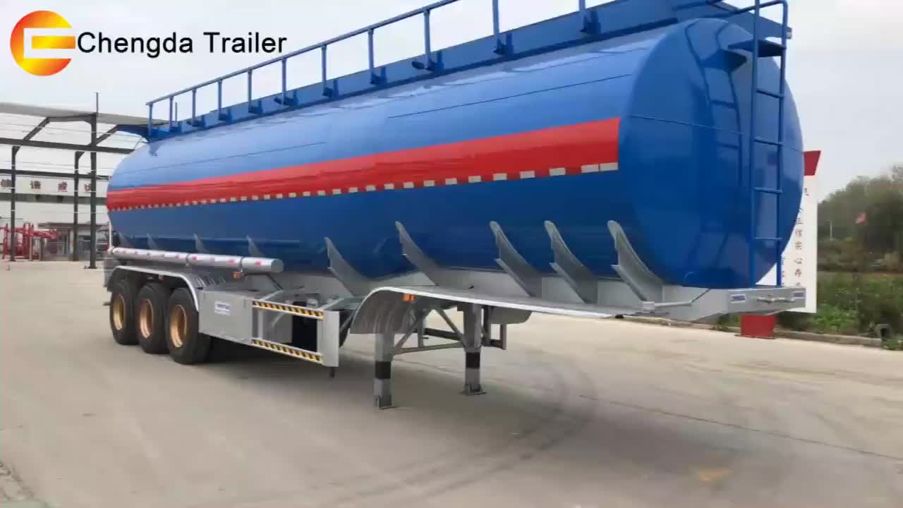 2 3 4 Axles 45000 50000 Liters 42cbm 3 Compartments Aluminium Alloy Stainless Carbon Steel Oil Tank Tanker Semi Trailer for Sale