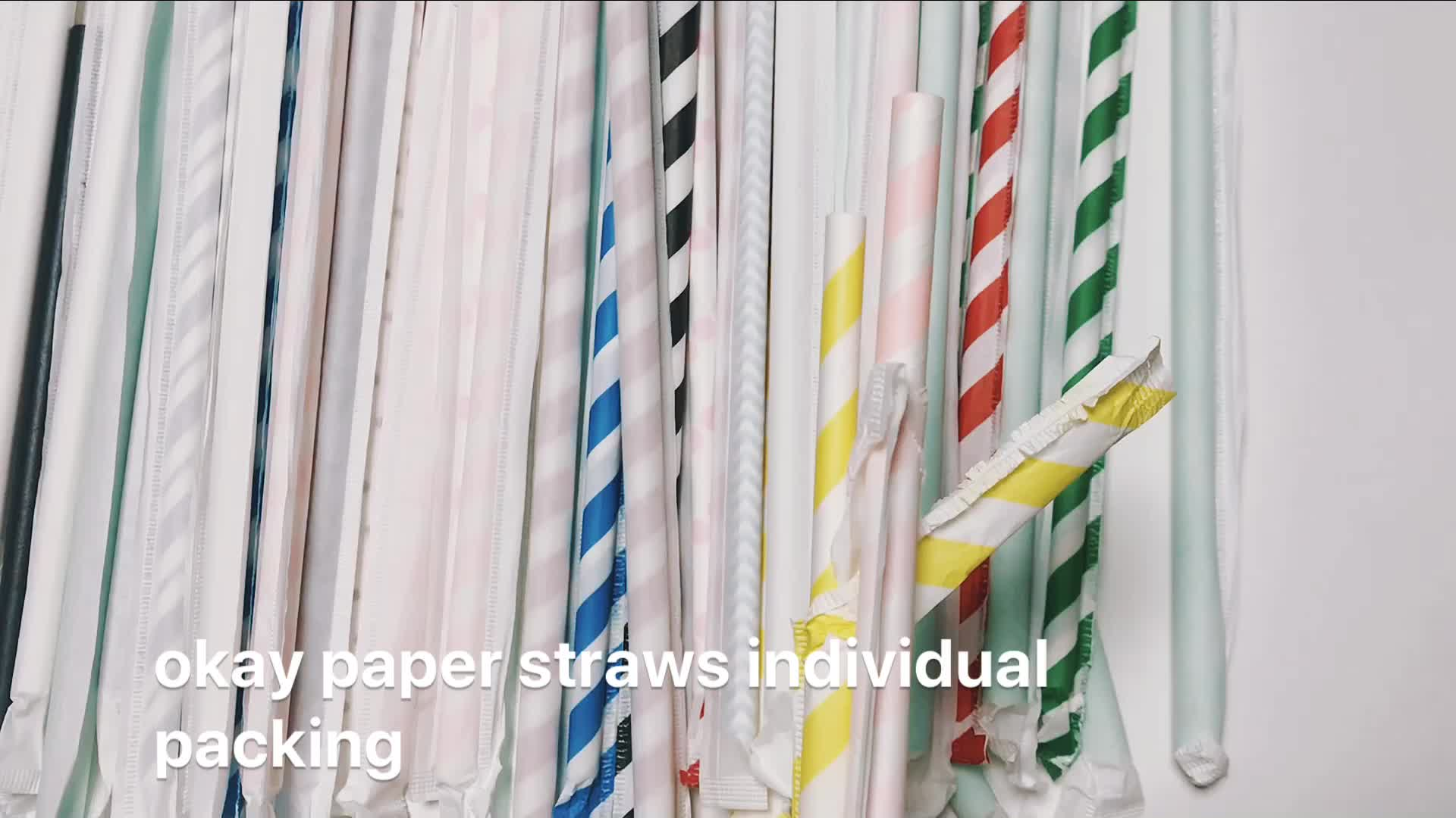 Бесплатные образцы 100 шт FSC FDA оптовая индивидуальная упакованная свадебная бумага соломы индивидуально завернутый смешанные цвета