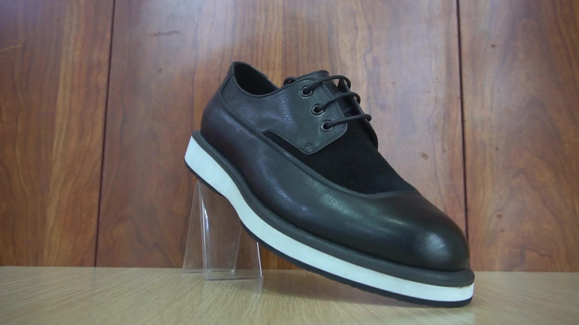 安い工場価格の靴男性ブーツ革オックスフォードダチョウ良い