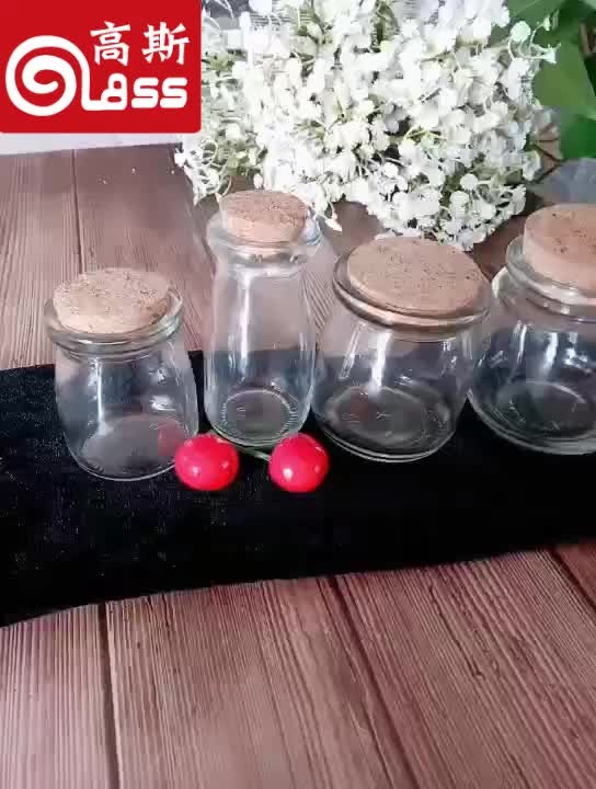 pudding jar  candy jars glass milk  pudding bottle with cork lid/wedding gift bottle