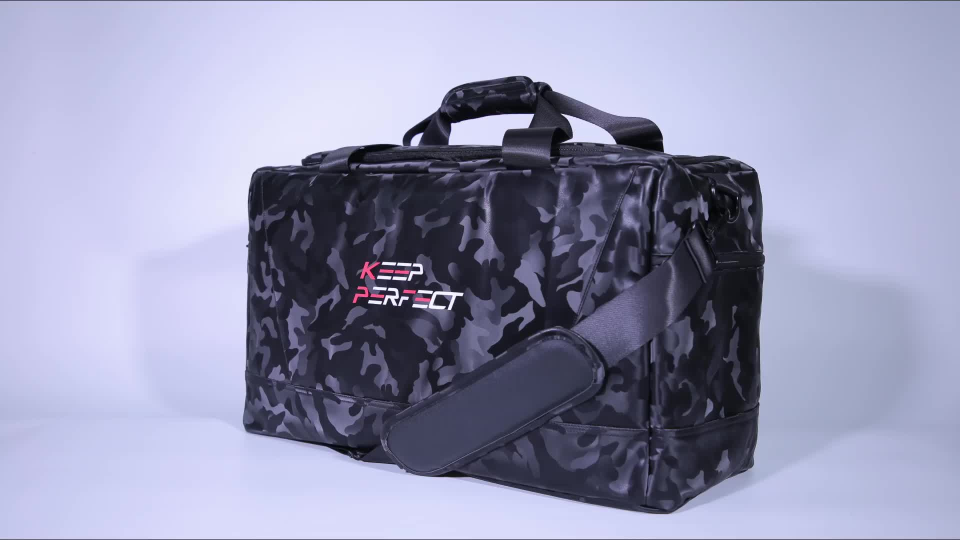 Outdoor Travel Bag Gym Bags with Sneaker Compartments Inner Laptop Compartment
