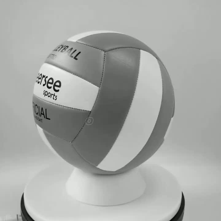 Custom Groothandel Officiële Standaard Maat Gewicht Lederen Strand Sport Volleybal met Rubber Blaas