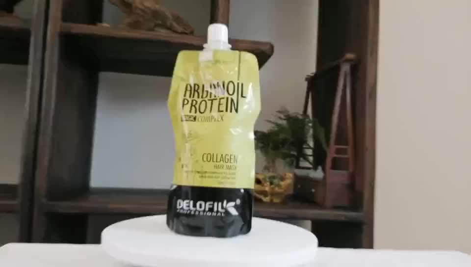 Delofil Argan Oil Protein Collagen Smooth Silk Keratin Hair Mask Treatment for damaged and dry hair