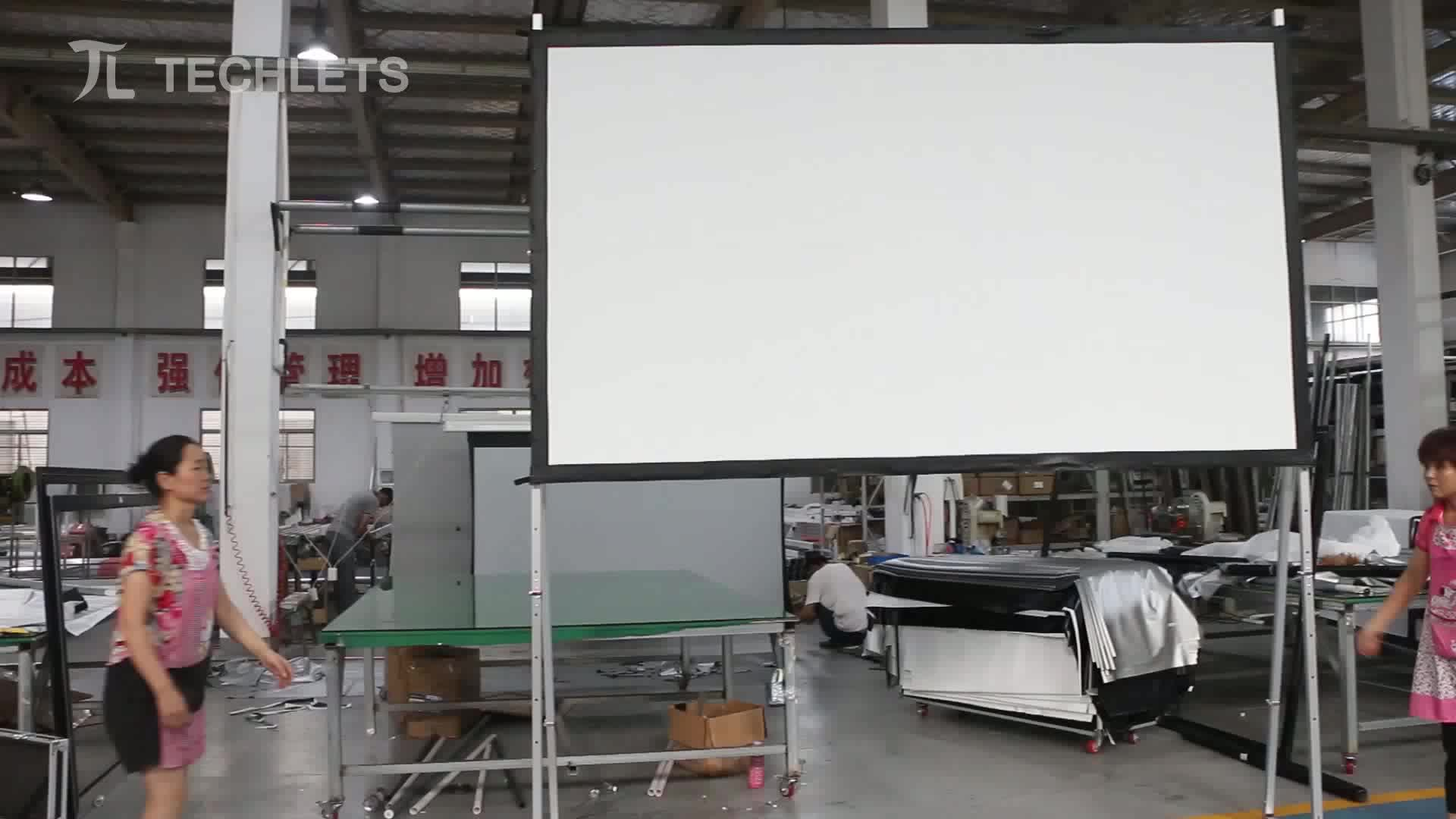 Big size High quality fast folding portable front/rear projection screen projetor screen from 100inch to 400inch