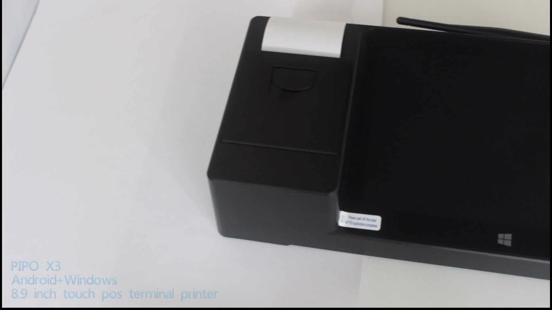 All in one  portable win10 android system mini pos 58 printer thermal driver touch screen monitor