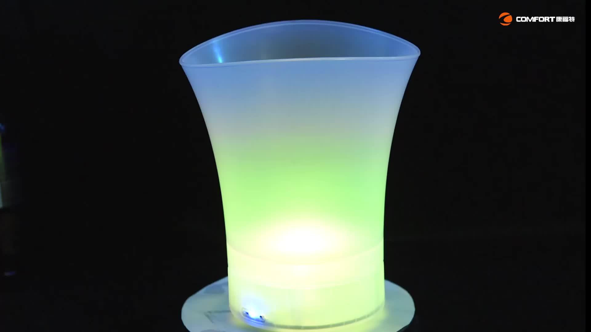 2020 ultimo disegno 5L led rotonda a forma di secchielli per il ghiaccio AA batteria di Vino secchiello per il ghiaccio led