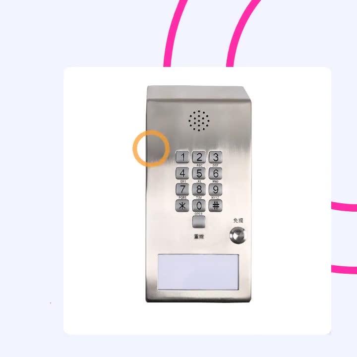 Handsfree Industriële Emergency Gevangenis Telefoon met een dial-up toetsenbord Telefoon voor Gevangenis