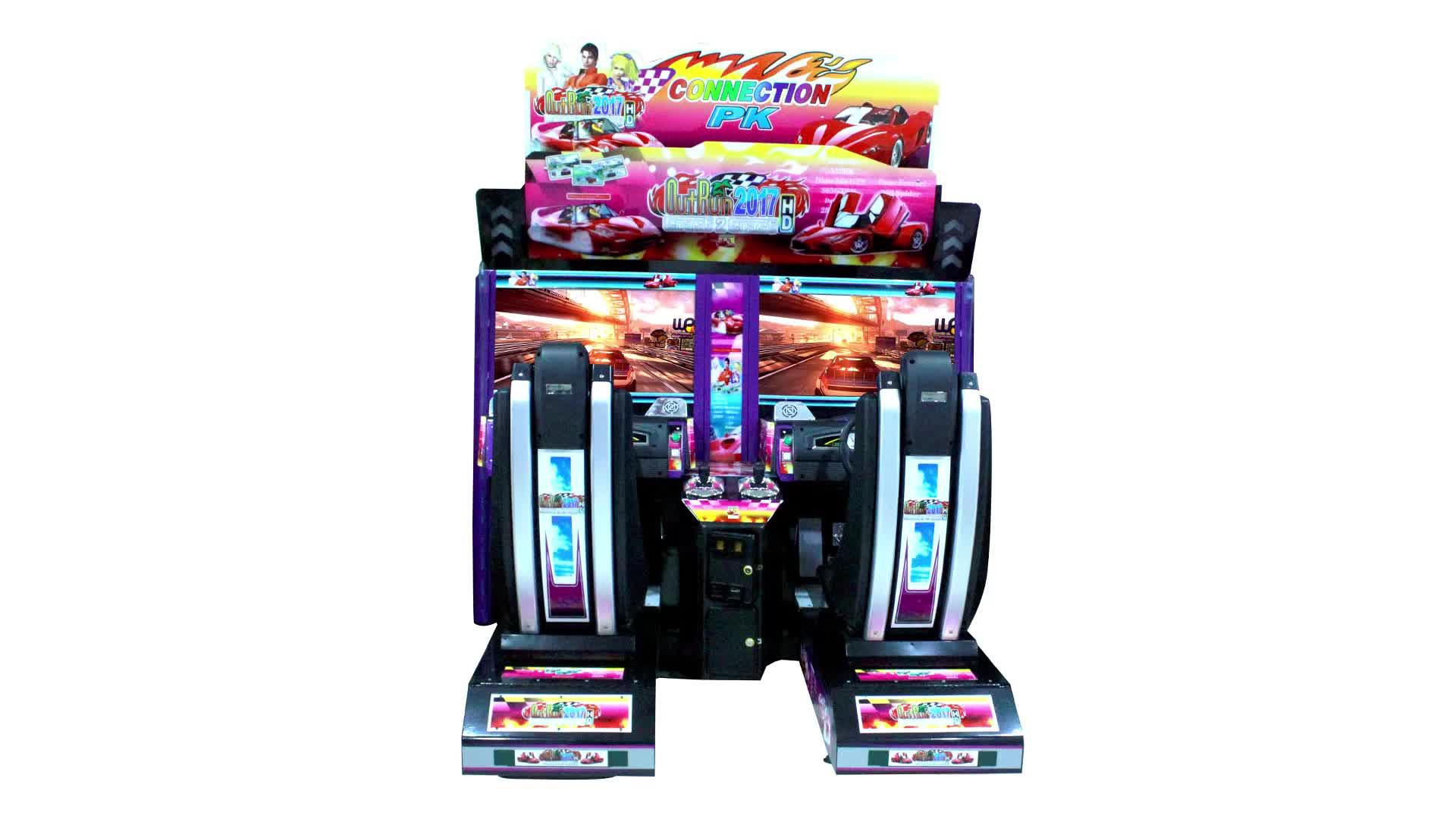 لعبة مركز المعدات عملة تعمل outrun سيارة سباق لعبة آلة ل 2 لاعب