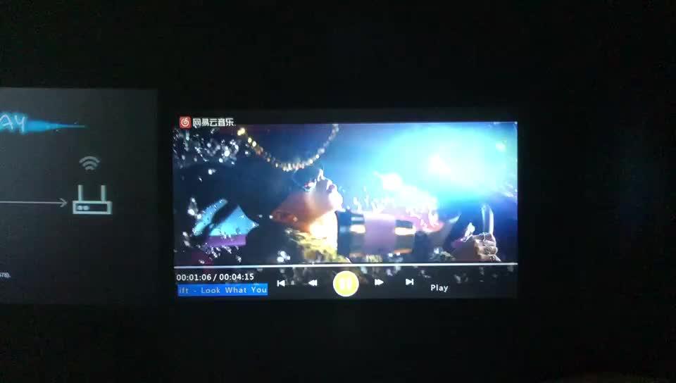 Новое поступление, Оригинальный светодиодный проектор 1080p F30 VIVIBRIGHT 5000 люмен, 3 ЖК-дисплея, светодиодный Рождественский проектор