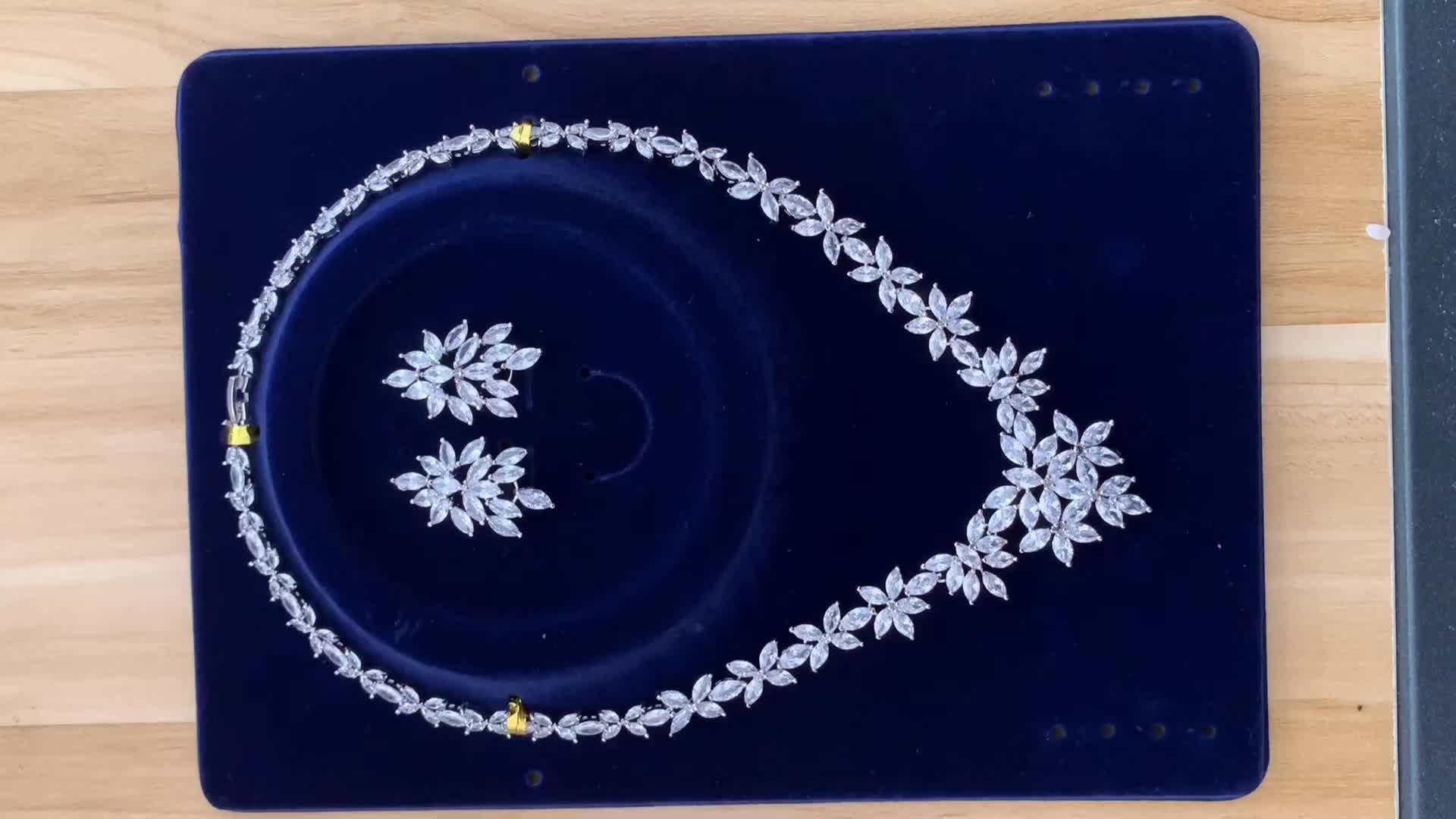 Wedding dress accessories aaa zirconia butterfly jewelry sets