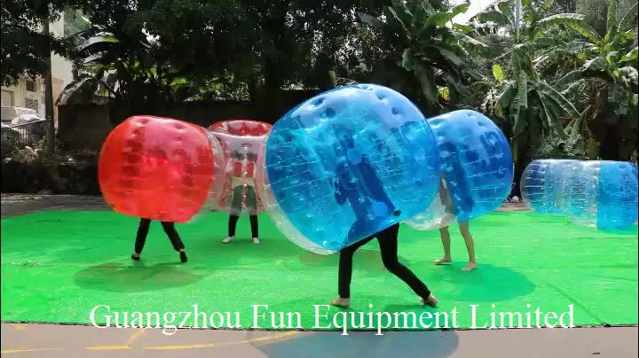first class material TPU Inflatable bumper ball half color inflatable bubble soccer balloon for sale