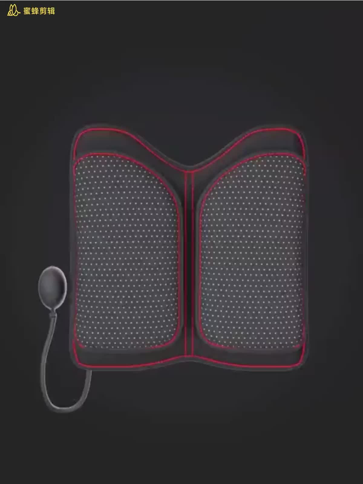 2020 toptan araba iç aksesuarları sırt desteği ofis koltuğu minderi arkalığı hava yastığı ile bel masaj yastığı yastık