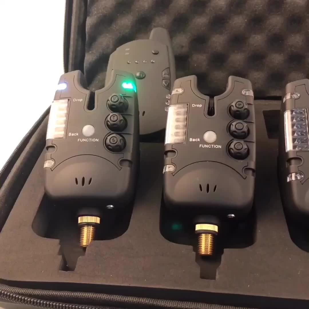 Ayarlanabilir hassasiyet/Ton/Ses Bite Alarm Seti Balıkçılık