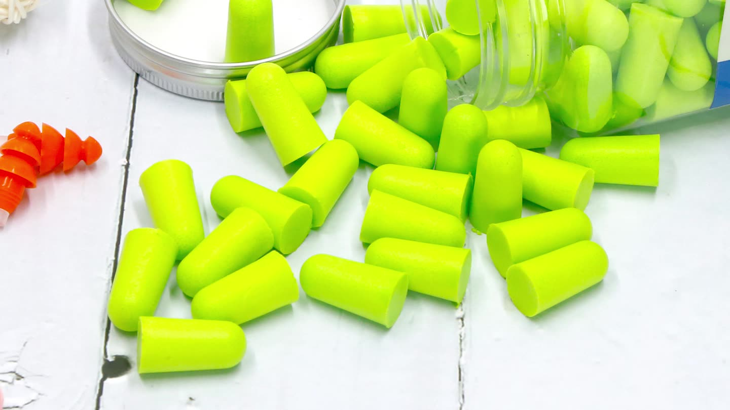 38dB PU Foam Disposable Slow Rebounded Soft Custom Ear Plugs