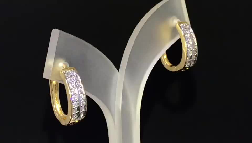 Fashion jewelry 2019 new arrivals silver and gold plated earrings for women