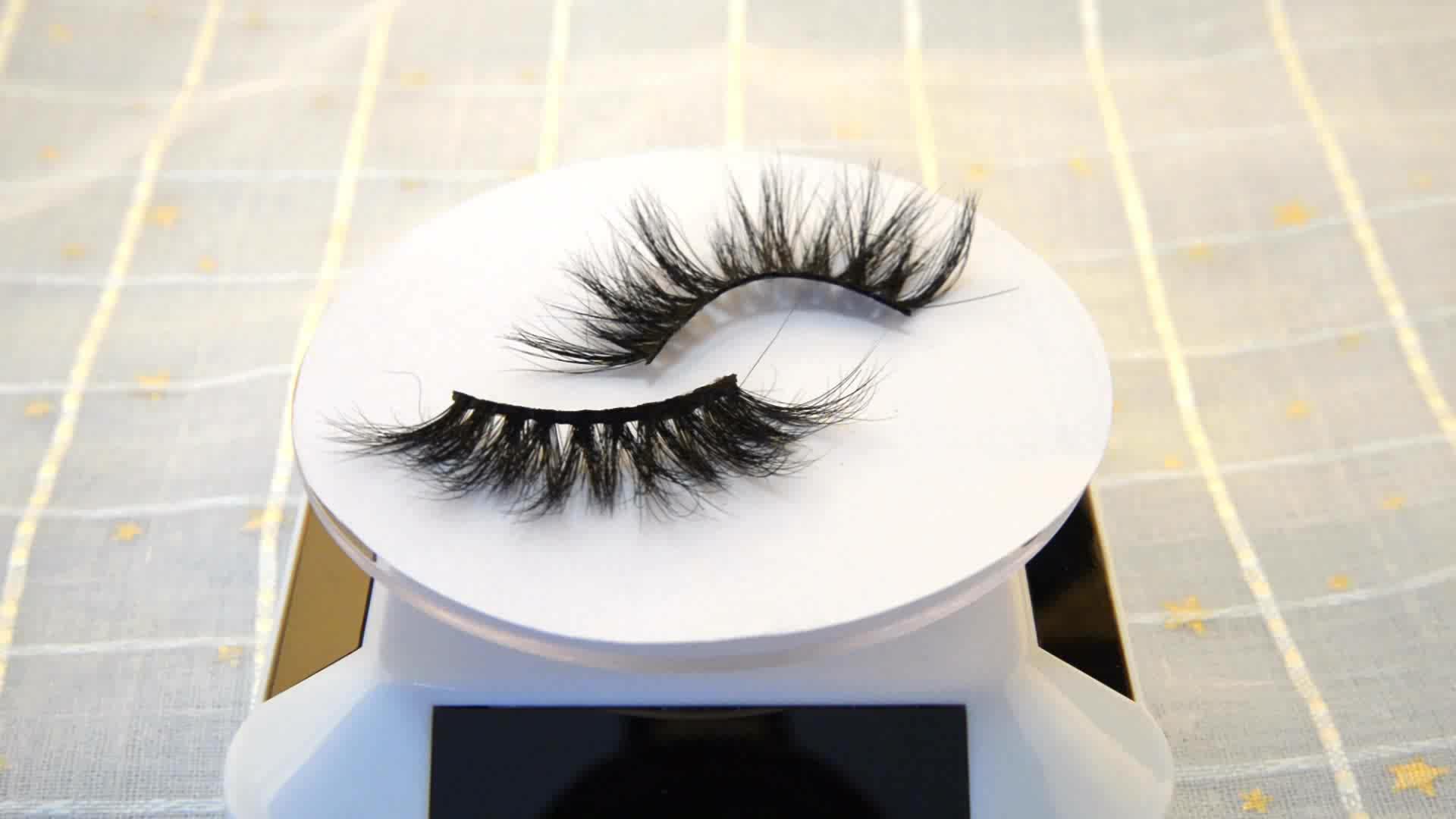 Wholesale top quality full Strip eyelashes 3D mink lashes eyelash box
