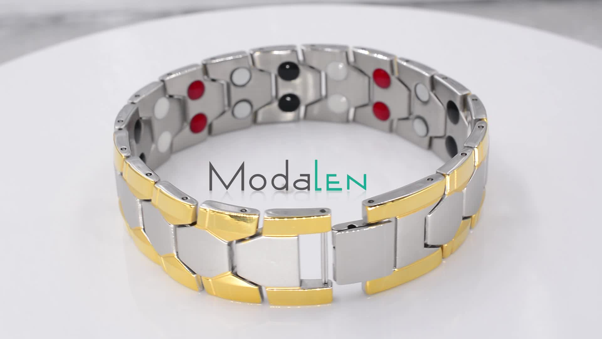Men stainless steel health blood pressure control japanese bio magnetic therapy bracelet