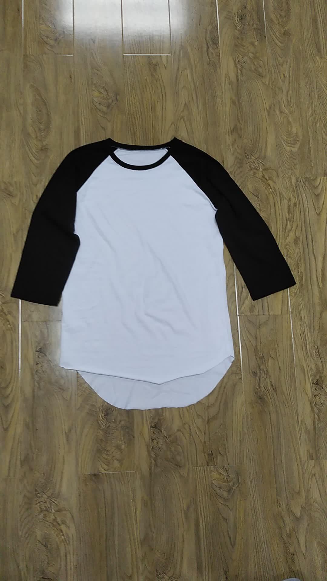 OEM BaseBall Tee Shirts Raglan Jersey 3/4 Mouw Effen Tee mannen T-shirt