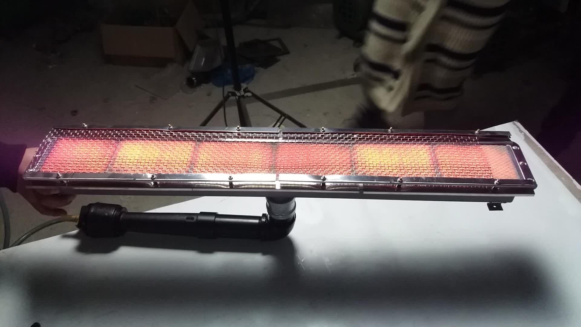 Guanti in lattice di gomma macchina impianti di riscaldamento-bruciatore a infrarossi HD262