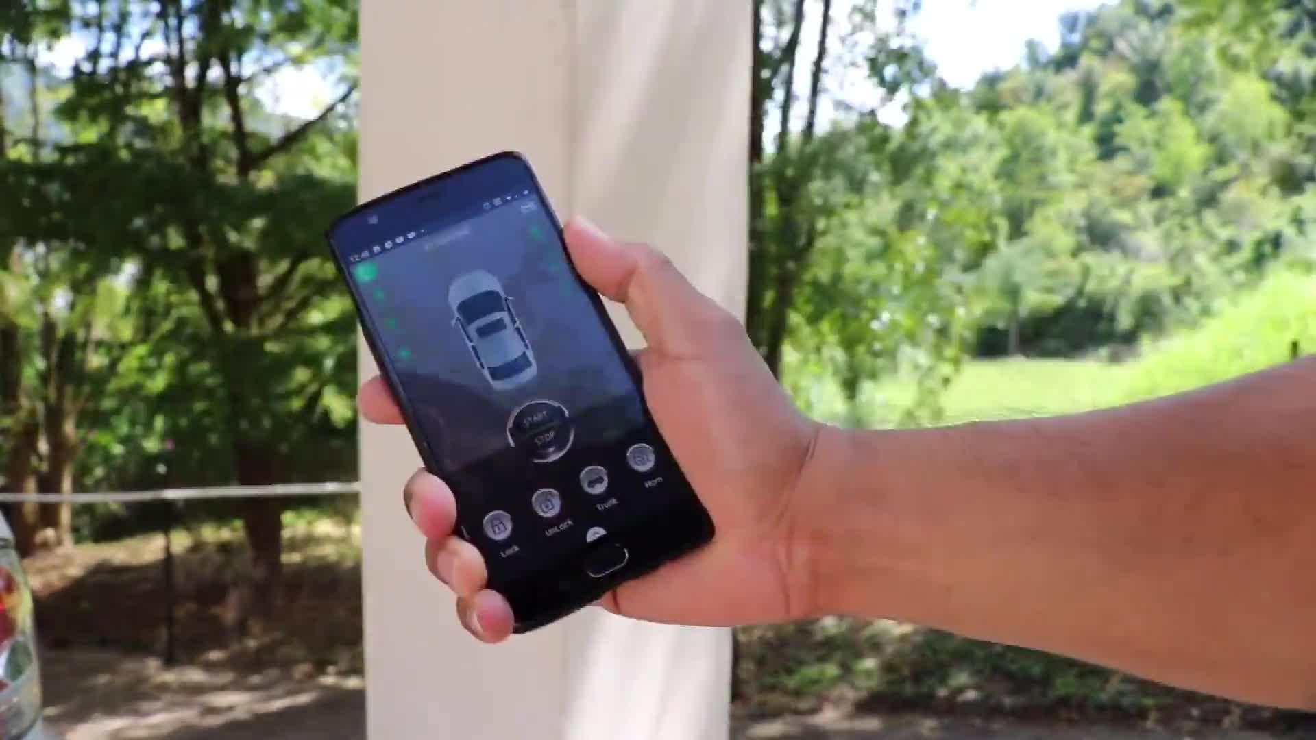 push start button anti theft siren gps smart 2 way alarm system  gsm manufacturing