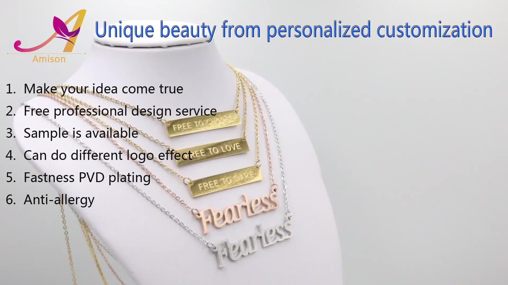 Индивидуальные выгравировать имя письмо логотип сувенир браслет из нержавеющей стали