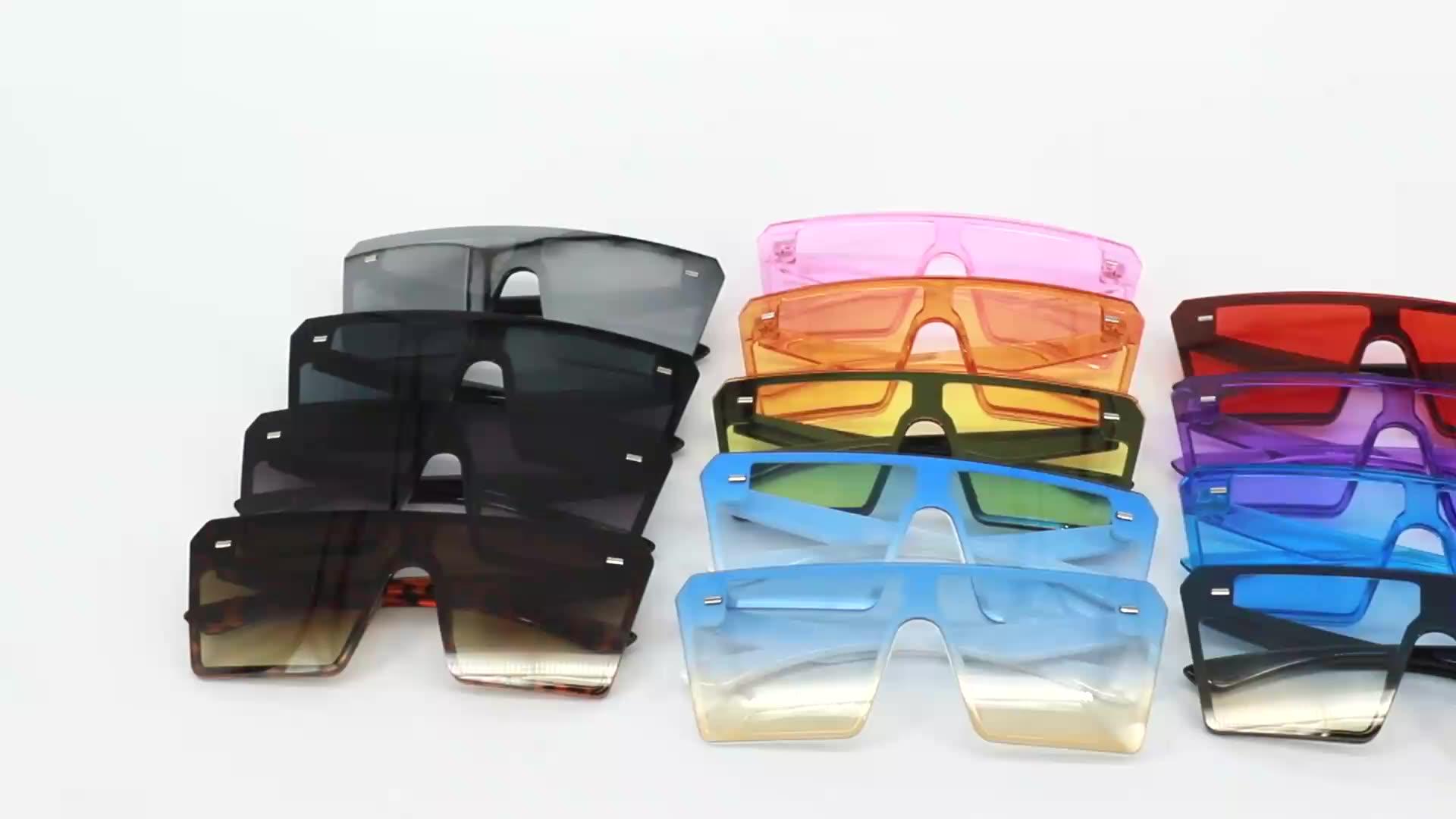 DAISYER 2020 أحدث صيحات الموضة بالجملة رجالي المتضخم الأسود ظلال النظارات الشمسية النسائية نظارات شمسية
