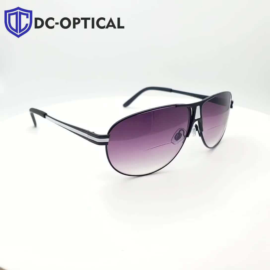 2019 ファッション金属二重焦点 Sunreader 太陽老眼鏡遠近両用レンズサングラス