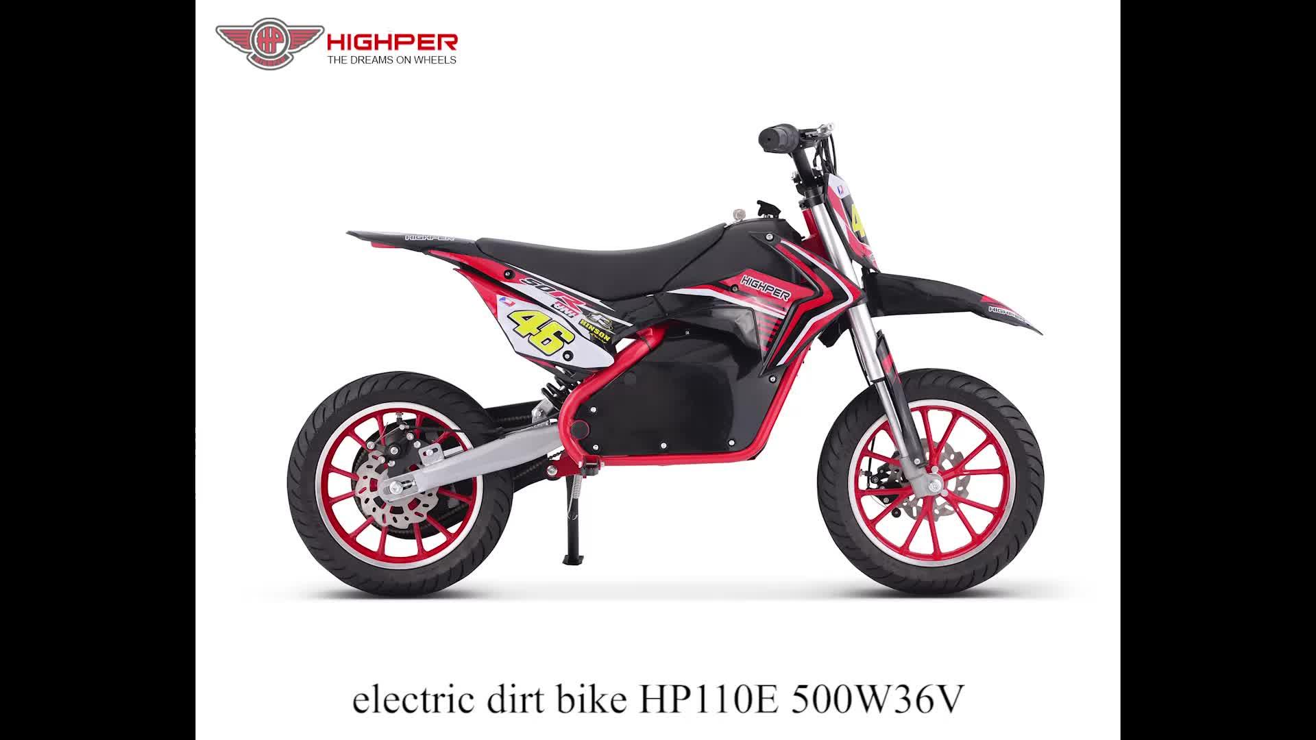 Sepeda Motor Elektrik Mini Anak-anak, 500W Pit Motor Trail Murah, Sepeda Saku, Motor, Moto Cross