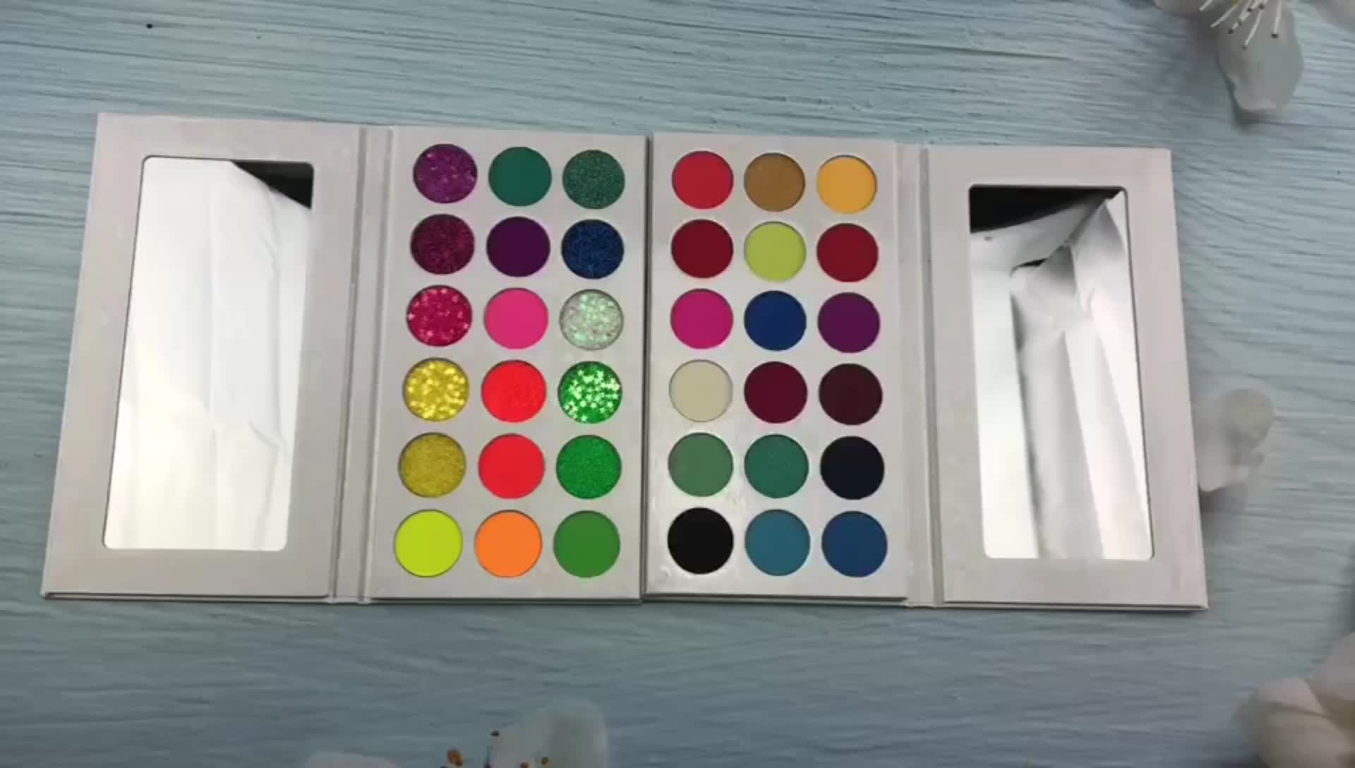 सौंदर्य प्रसाधन निजी कॉस्मेटिक मेकअप नेत्र छाया 18 रंग आंखों के छायाएं पैलेट OEM/ ODM शिमर मैट आंखों के छायाएं