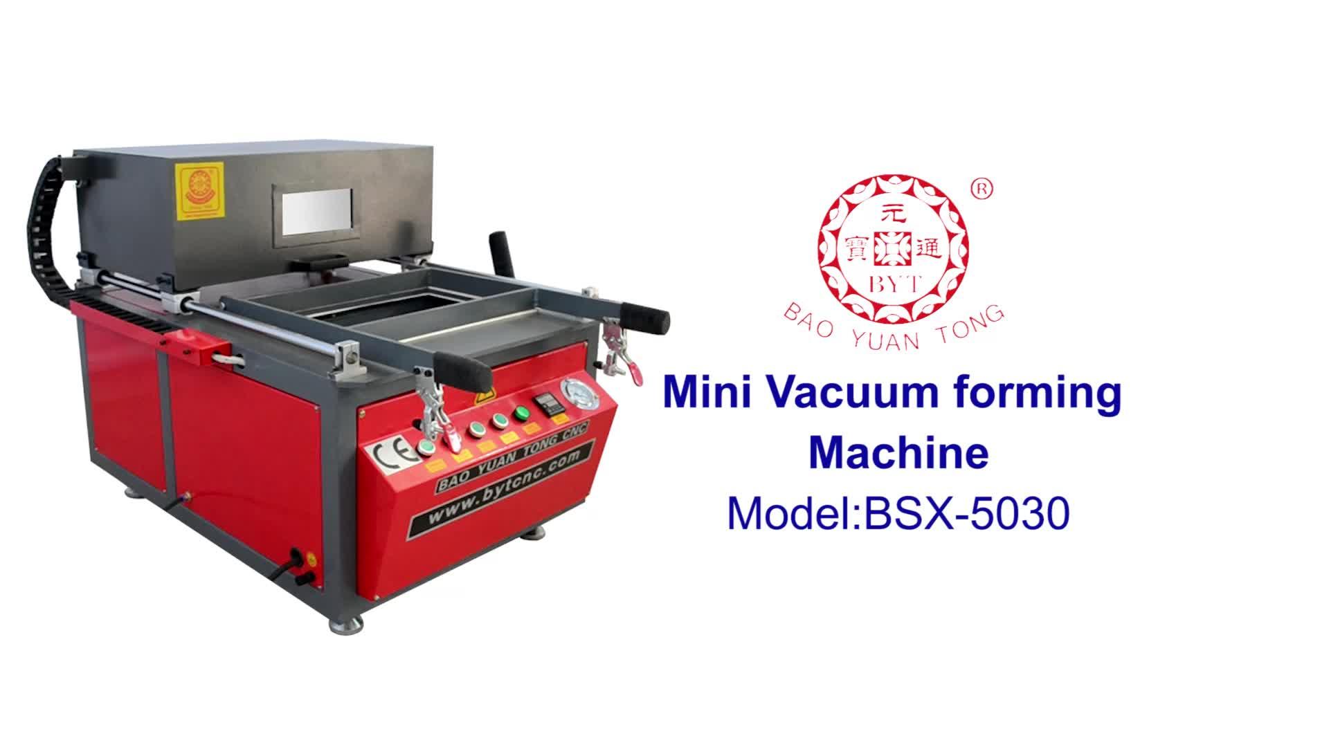 BSX5030 abs plástico acrílico mini automatic termoformagem thermo vácuo dá forma à máquina