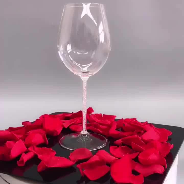 600ml Handmade Heat Resistant Borosilicate Glass Goblet Wine Glass